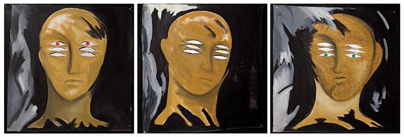 Processo, 1986-8 acrílica sobre lona sobre tela 90 × 90 cm (cada)