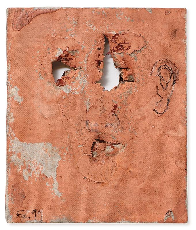 Sem título, 1999 acrílica, grafite e parafina sobre tela 18 × 15 cm