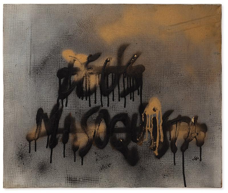 Sem título, s/d spray e acrílica sobre tela 50 × 60 cm