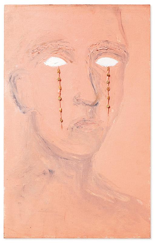 Lágrimas, 1995 acrílica e resina sobre tela 80 × 50 cm