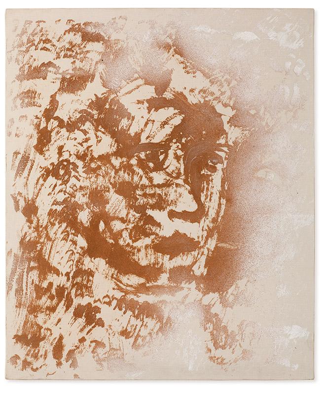 Sem título, s/d acrílica e areia sobre tela 60 × 50 cm