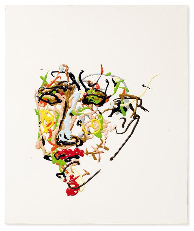Sem título, s/d acrílica e óleo sobre tela 60 × 50 cm