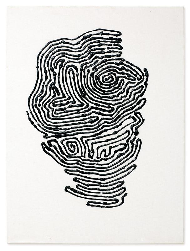 Sem título, s/d acrílica, pastel, colagem e ponta seca sobre tela 80 × 50 cm