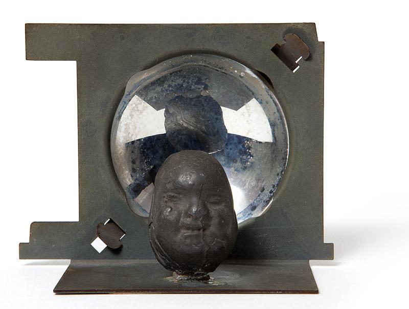Double de Buda, 1989 metal e plástico 7,5 × 9,5 × 4 cm