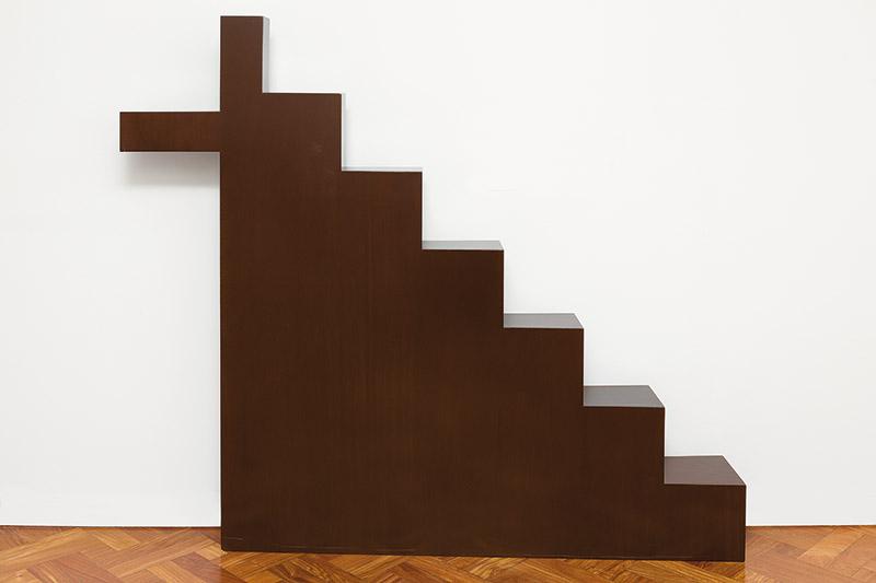 Calvário, déc. 1990 madeira 28 × 28 × 4 cm