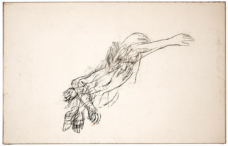 Heráclito, 1994 carvão sobre papel colado sobre tecido 203,5 × 324,5 cm