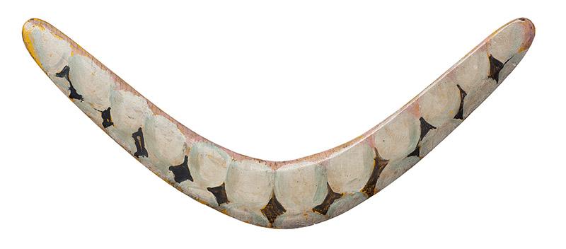 Sem título, s/d acrílica sobre madeira (bumerangue) 19 × 42,5 cm